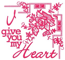My Heart embroidery design