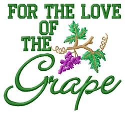 Love Grape embroidery design
