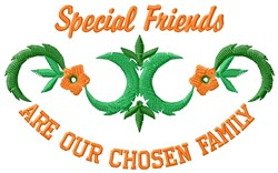 Special Friends embroidery design