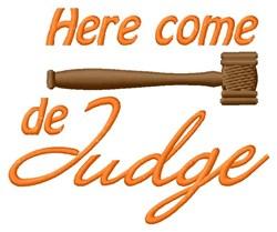 De Judge embroidery design