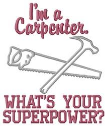 Carpenter Superpower embroidery design
