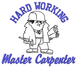 Hard Working embroidery design