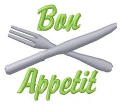 Bon Appetit embroidery design