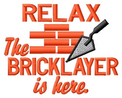 Bricklayer Is Here embroidery design
