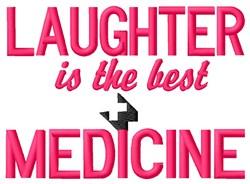 Laughter Medicine embroidery design