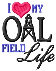 Oil Field Life embroidery design