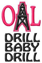 Oil Drill embroidery design