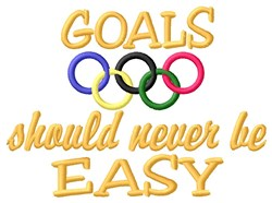 Easy Goals embroidery design