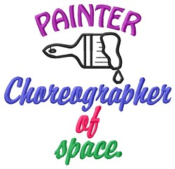 Paint Choreographer embroidery design