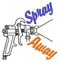 Spray Away embroidery design