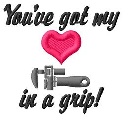 Heart In Grip embroidery design