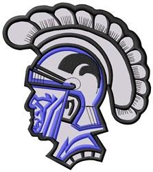 Trojan Mascot Applique embroidery design