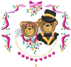 Marrying Friend  Applique embroidery design