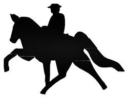 Equestrian Rider embroidery design