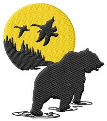 Bear Scene embroidery design