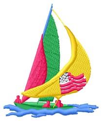 Sailboat embroidery design