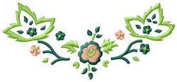 Toll Flowers embroidery design