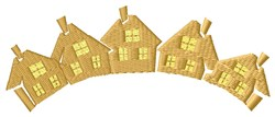 Houses embroidery design