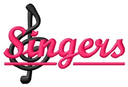 Singers embroidery design