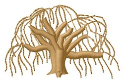 Tree embroidery design