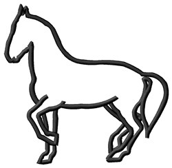 Horse Outline embroidery design