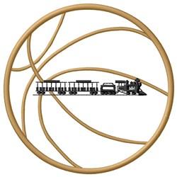 Basketball Train embroidery design