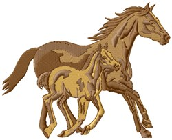 Horse & Foal embroidery design