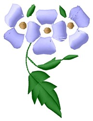 Periwinkles embroidery design