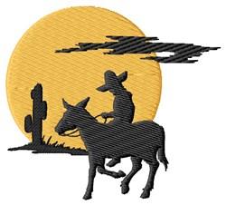 Spanish Rider embroidery design