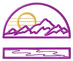 Mountain Range embroidery design