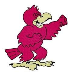 Cardinal Mascot embroidery design