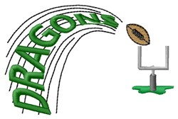 Dragons Football embroidery design