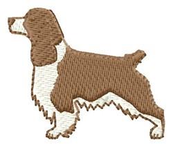 English Springer embroidery design