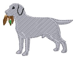 Retriever embroidery design