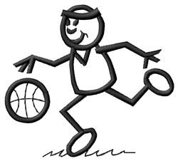 Basketball Player embroidery design