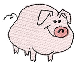 Happy Pig embroidery design