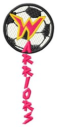 Warriors Soccer embroidery design