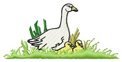 Geese embroidery design