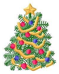 Xmas Tree embroidery design