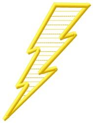 Lightning embroidery design