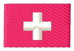 Swiss Flag embroidery design