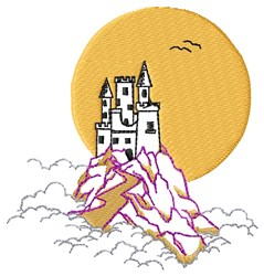 Castle in Clouds embroidery design