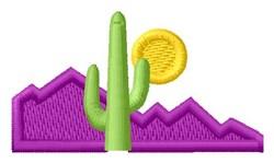 Cactus Scene embroidery design