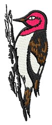 Tree Woodpecker embroidery design
