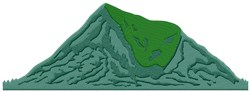 Mountain Hill embroidery design