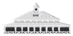 Horse Stables embroidery design