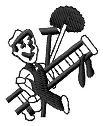 Janitor Man embroidery design
