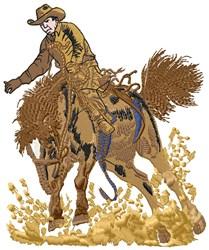Horse & Rider embroidery design