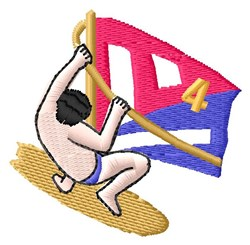 Wind Surfer embroidery design