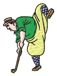 Funny Golfer embroidery design